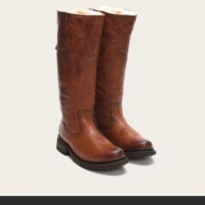 f5a7e7292b5 Women s Frye Valerie Shearling Boots on Poshmark